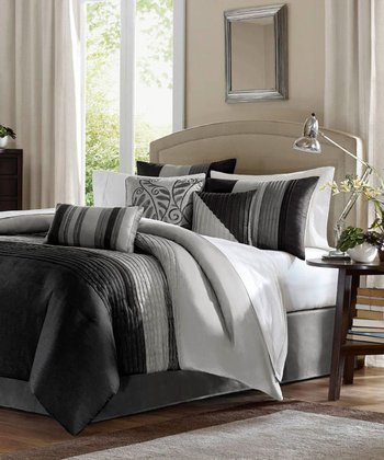 Black & Gray Houston Duvet Set