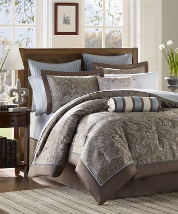 Blue Cora Duvet Set