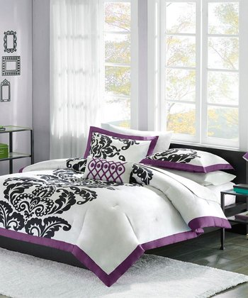 Purple Sybil Twin XL Comforter Set