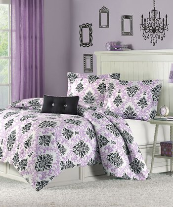 Purple Isobel Comforter Set
