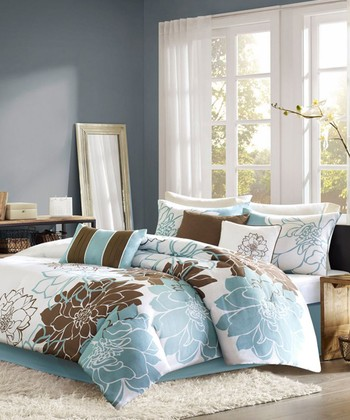 Blue & Brown Elizabeth Duvet Set