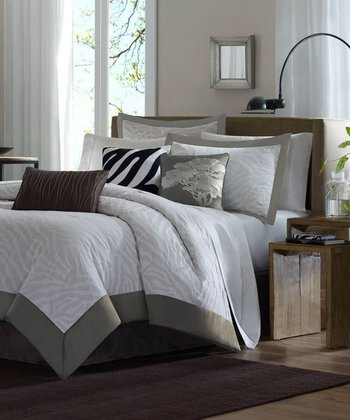 Gray McKenzie Duvet Set