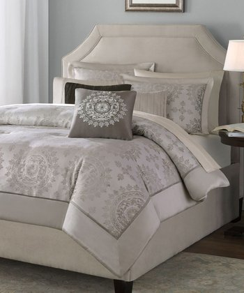 Tan McKinley Jacquard Bedding Set
