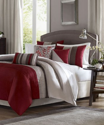 Red Melissa Duvet Set