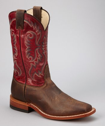 Dark Tan Ponteggio Western Cowboy Boot - Men