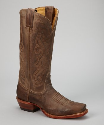 Tan Vintage Fashion Cowboy Boot - Women