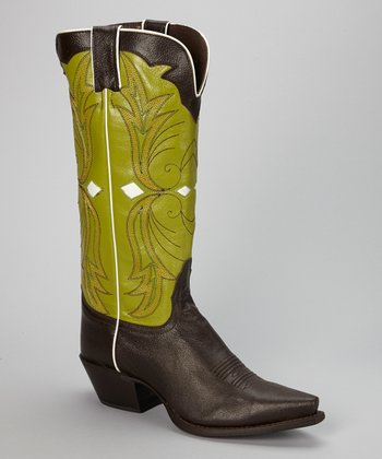 Mocha Chocolate Fashion Cowboy Boot - Women