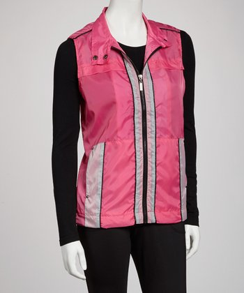 Electric Pink Zip-Up Vest - Women