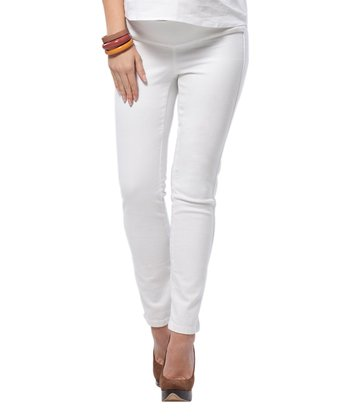 Off-White Maternity Skinny Jeans