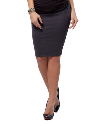 Rock Gray Maternity Pencil Skirt