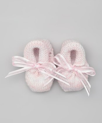Pink Classic Crocheted Booties