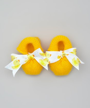 Yellow Duck Crocheted Booties