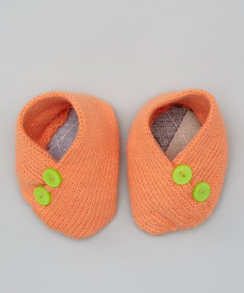 Orange Argil Crocheted Booties