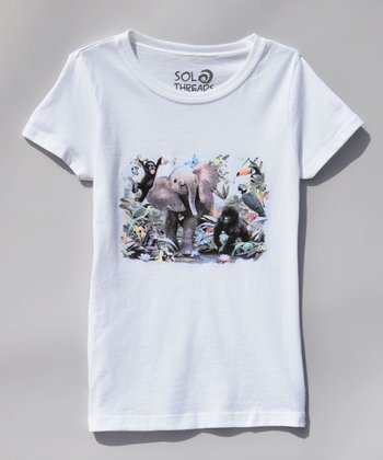 White Junior Jungle Tee