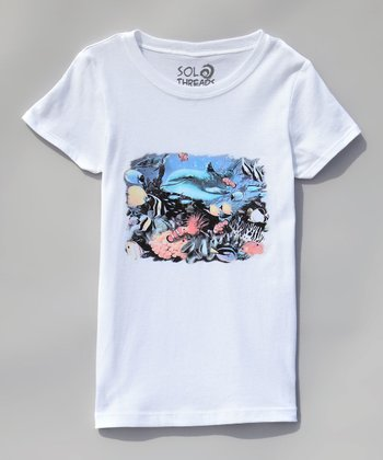 White Dolphin Light Tee