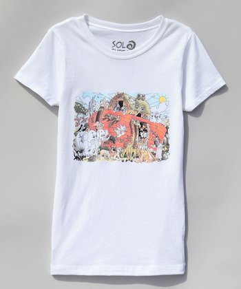 White Noah's Ark & Friends Tee