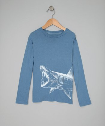 Blue Shark Long-Sleeve Tee - Toddler & Boys