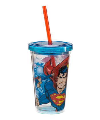 Blue Superman 12-Oz. Travel Tumbler