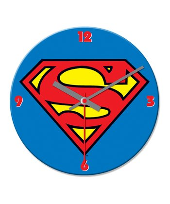 Blue Superman Cordless Wall Clock