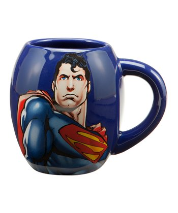 Blue Superman Oval Mug