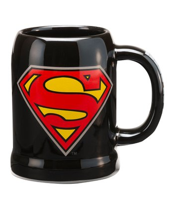 Black Superman 20-Oz. Stein