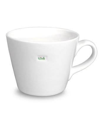 White 'The' Porcelain Bucket Mug