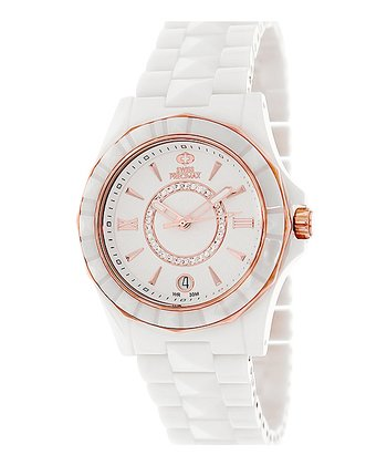 White & Rose Gold Fiora Watch