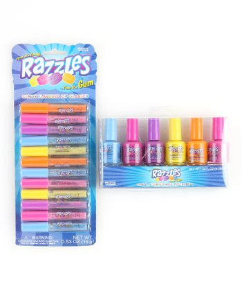 Razzles Lip Gloss & Nail Polish Set