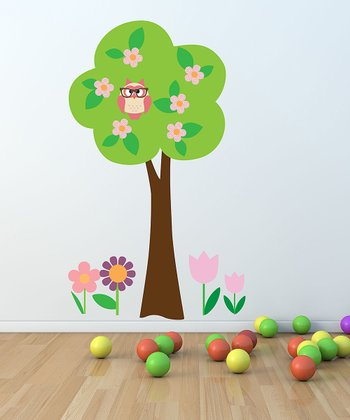 Owl Tree Wall Decal Set