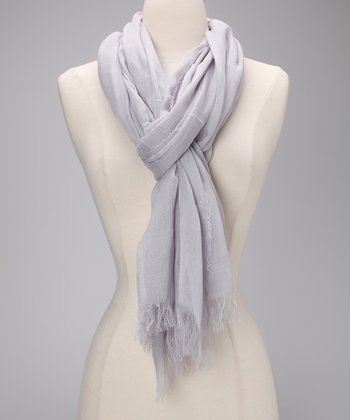 Light Gray Celebrity Scarf