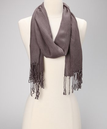 Dark Gray Simply Stated Scarf