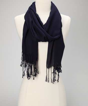 Navy Simply Stated Scarf