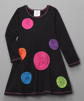 Black Lollipop Dress - Toddler
