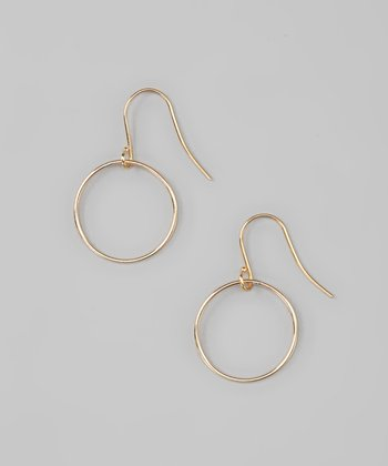 Gold Open Loop Earrings