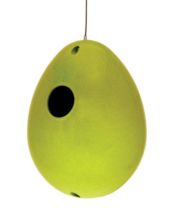 Key Lime Bamboo Egg Birdhouse