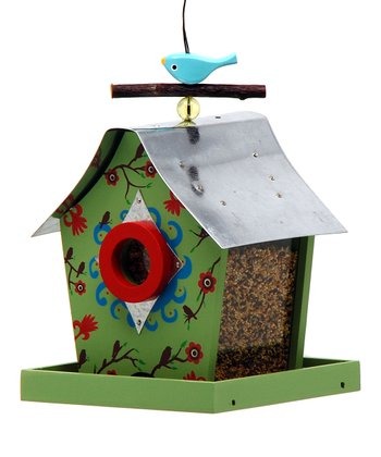 Fall Blossoms Retro Chic Bird Feeder
