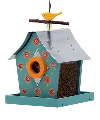 Flowers Retro Chic Bird Feeder