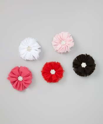 Essentials Chiffon Flower Clip Set