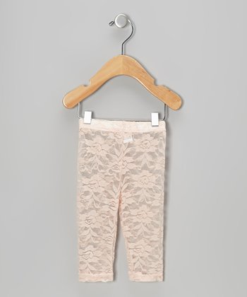 Pink Lace Leggings - Infant, Toddler & Girls