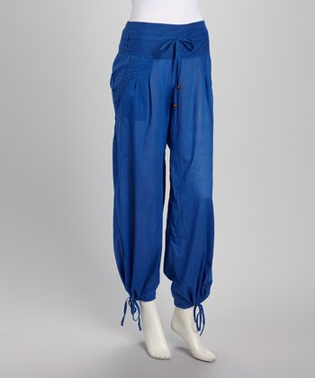 Blue Harem Pants - Women