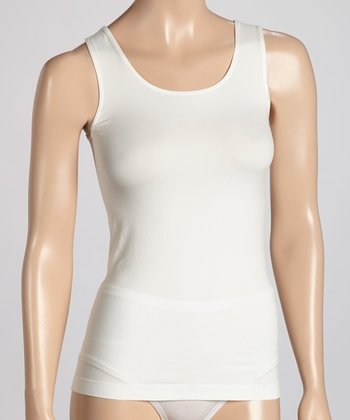 Milk Scoop Neck Shaper Tank- Women