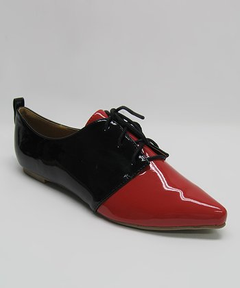 Red Patent Oxford