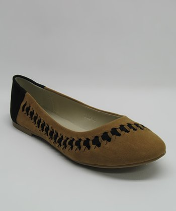 Tan Cutout Chain Flat