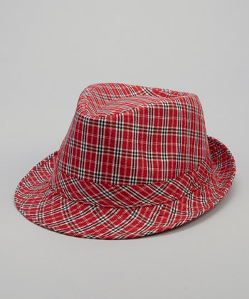 Red Plaid Sherman Fedora