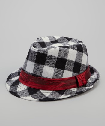 Black Checkerboard Nelsen Fedora