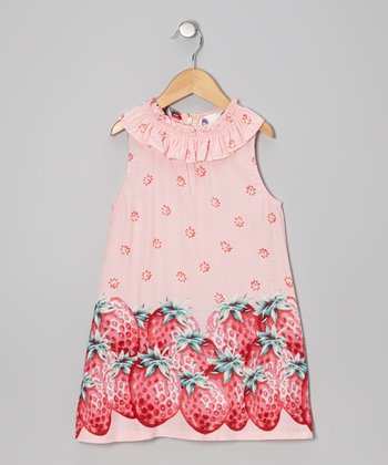 Pink Strawberry Yoke Dress - Infant, Toddler & Girls