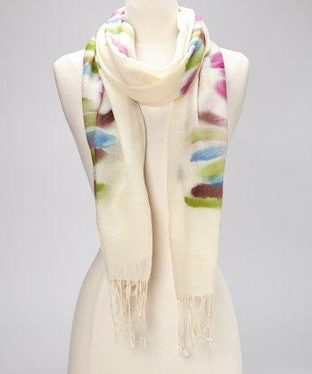 Fuchsia Flow Wool Scarf