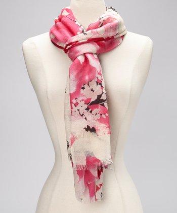 Rose & Gray Wool Scarf
