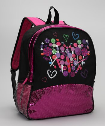 Fuchsia Candy Sequin Backpack