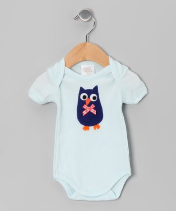 Aqua Owl Bodysuit - Infant